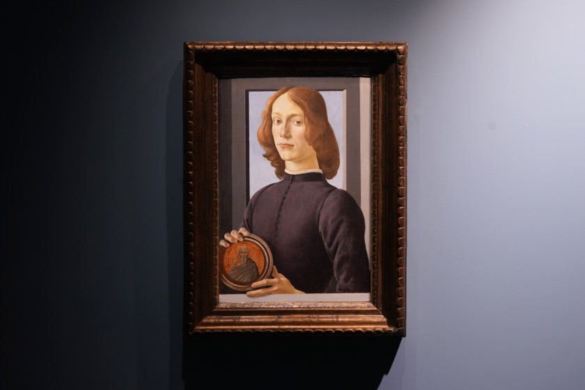 Sandro Botticelli, Young Man Holding a Roundel